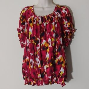 Alfani Woman Print Tunic Top Plus Size 18W